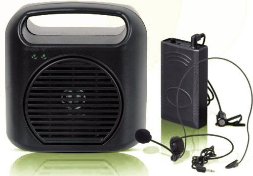 Hisonic Rechargeable & Portable Wireless PA System with Headset and Lavaliere Microphones