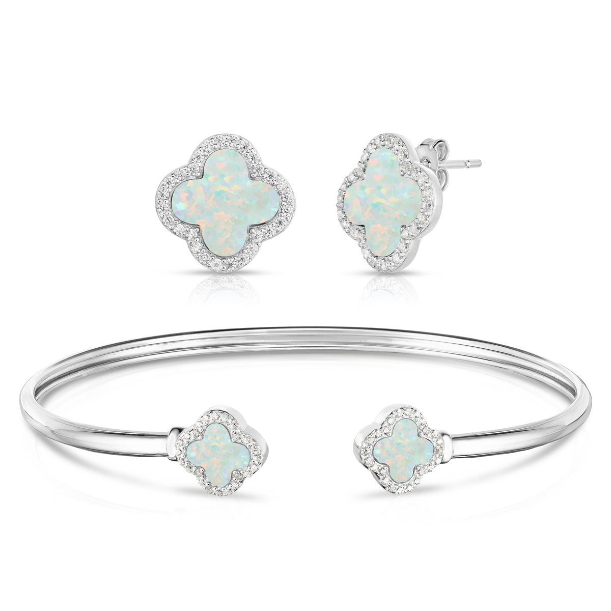 Opal Bracelet and Earring Set
