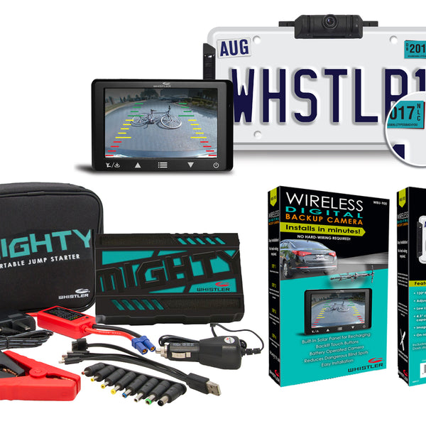 Whistler Backup Cam and MIGHTY Jump Starter Package
