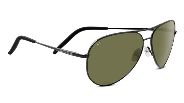 Serengeti Carrara Shiny Gunmetal Polarized 555 Sunglasses