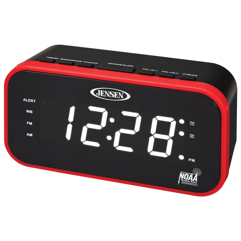 AM/FM Weather Band Clock Radio with Weather Alert