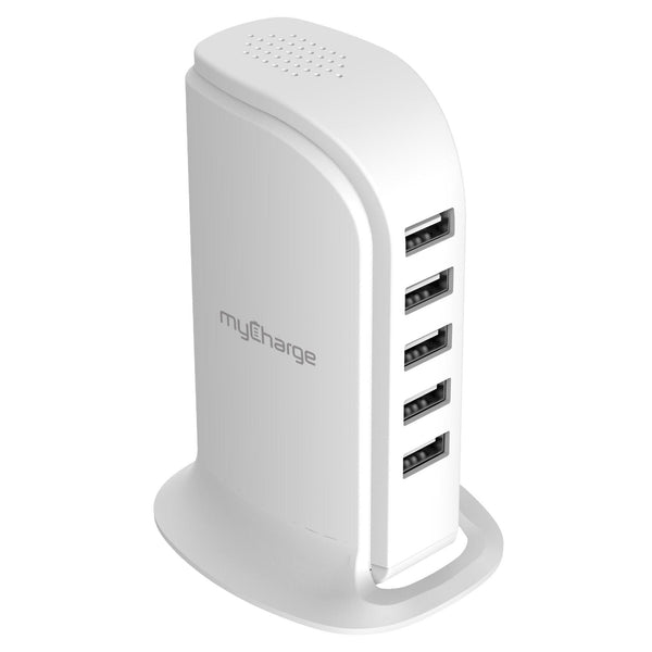 Power Hub 5-Port USB Tower