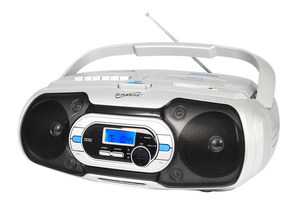 Supersonic Bluetooth Portable Audio System - CD/MP3/Bluetooth/USB/AUX