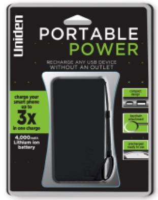 Uniden 4,000mAh Portable power battery