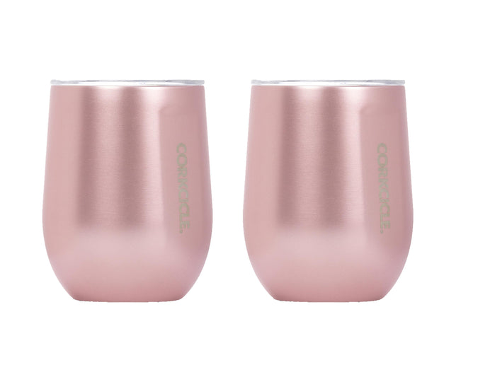 12oz Stemless Wine Cup - Rose Metallic, 2 Pack