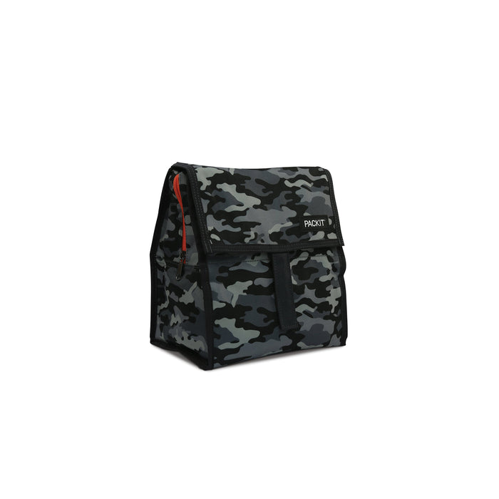 Charcoal Camo Lunch Bag