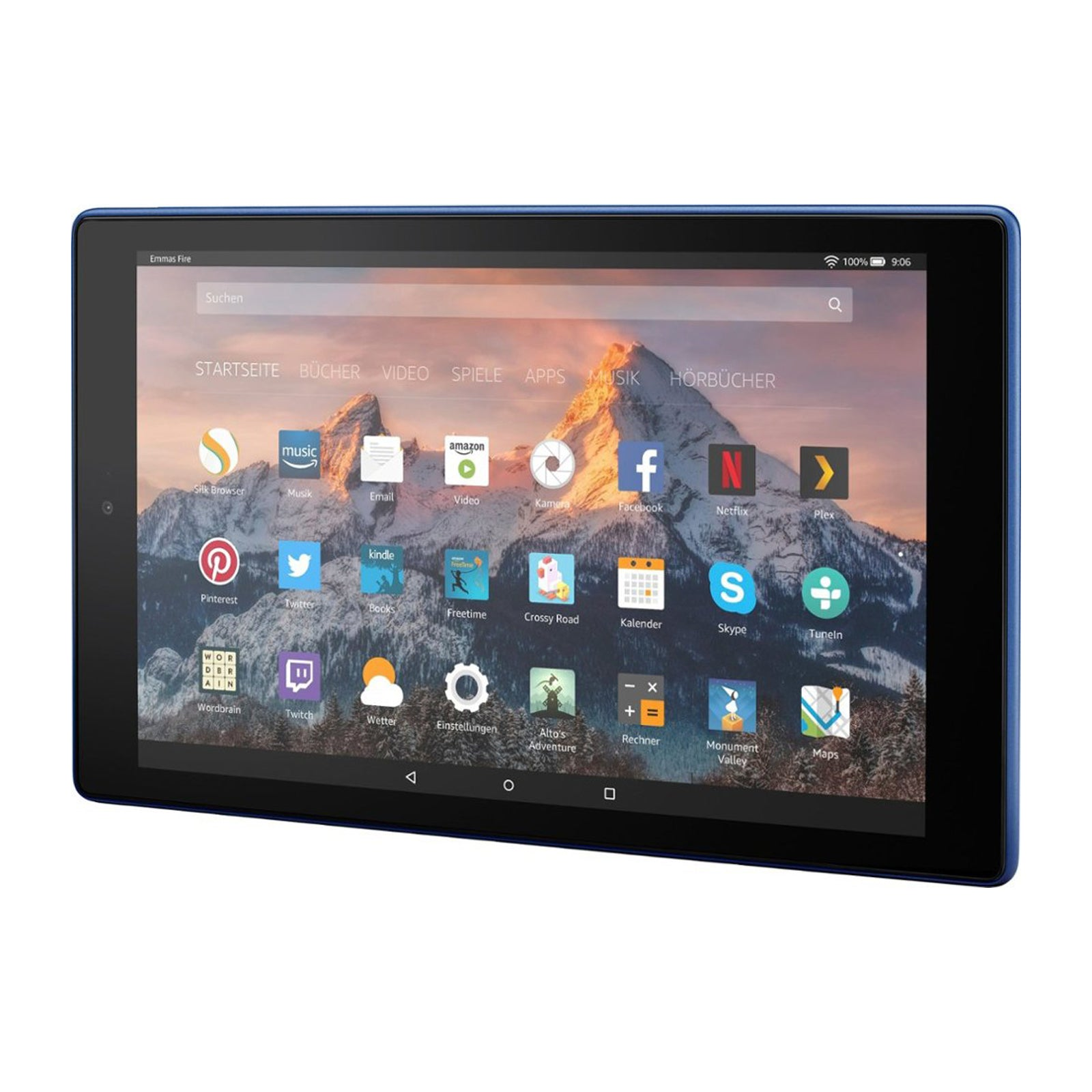 Amazon 10.1 - Inch Fire HD 10 Tablet 32 GB with Alexa - (Marine Blue)