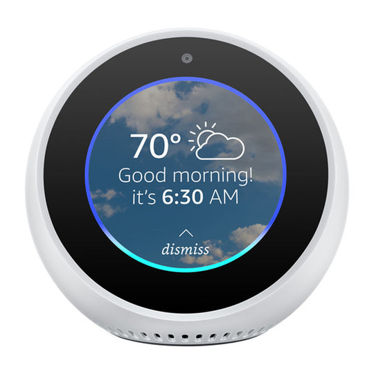 Amazon Echo Spot Smart Speaker with Alexa - (White)