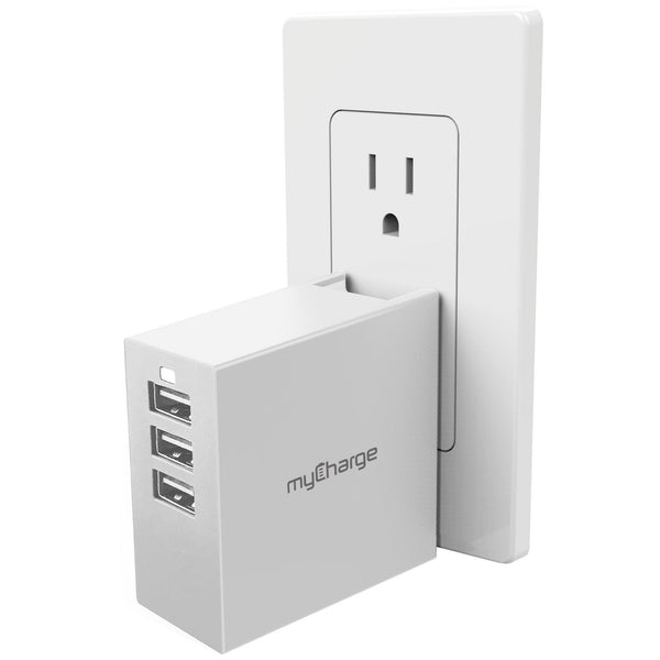 PowerBase-3 USB Charging Hub White