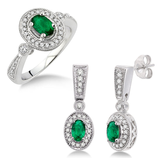 Emerald Earring & Ring Set
