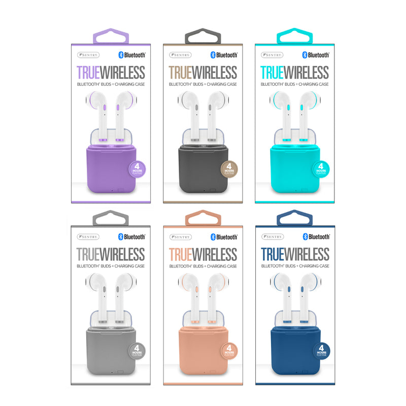 BLUETOOTH ASST COLOR TWS EARBUDS