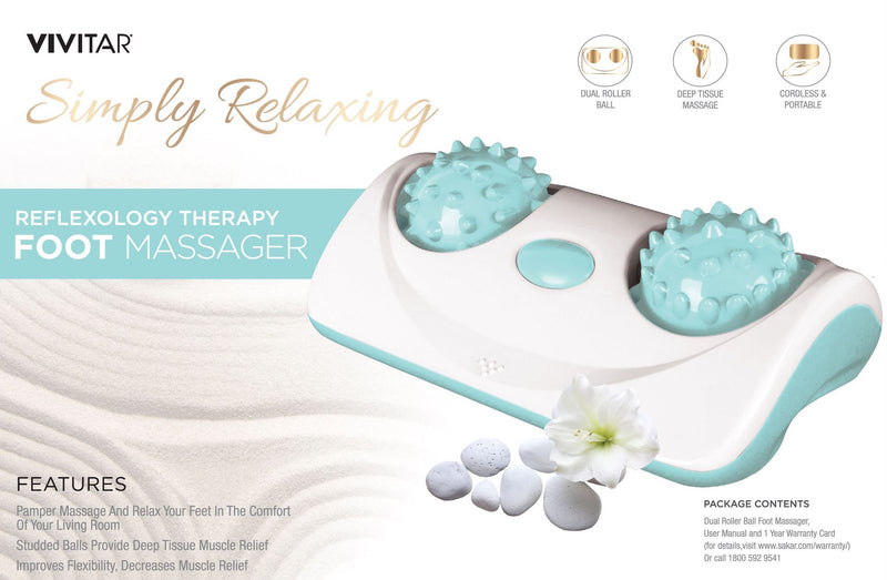 Vivitar Reflexology Therapy Electronic Dual Foot Massager