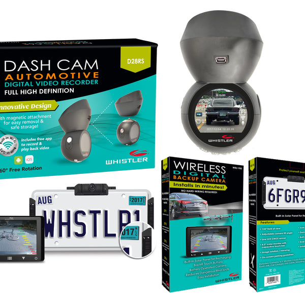 Whistler Backup Camera and Dash Cam with GPS and WiFi
