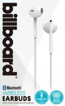 Billboard Bluetooth Wireless Ear Buds with Microphone