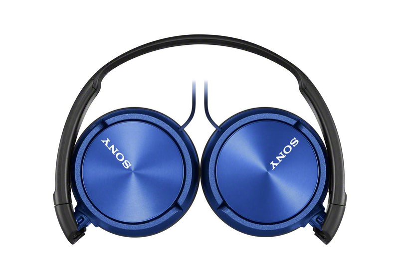 Sony ZX310AP - ZX Series - headphones with mic - full size - 3.5 mm jack - blue