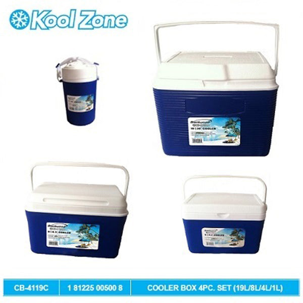 Cooler Box 4Pc. Set (19L/8L/4L/1L)