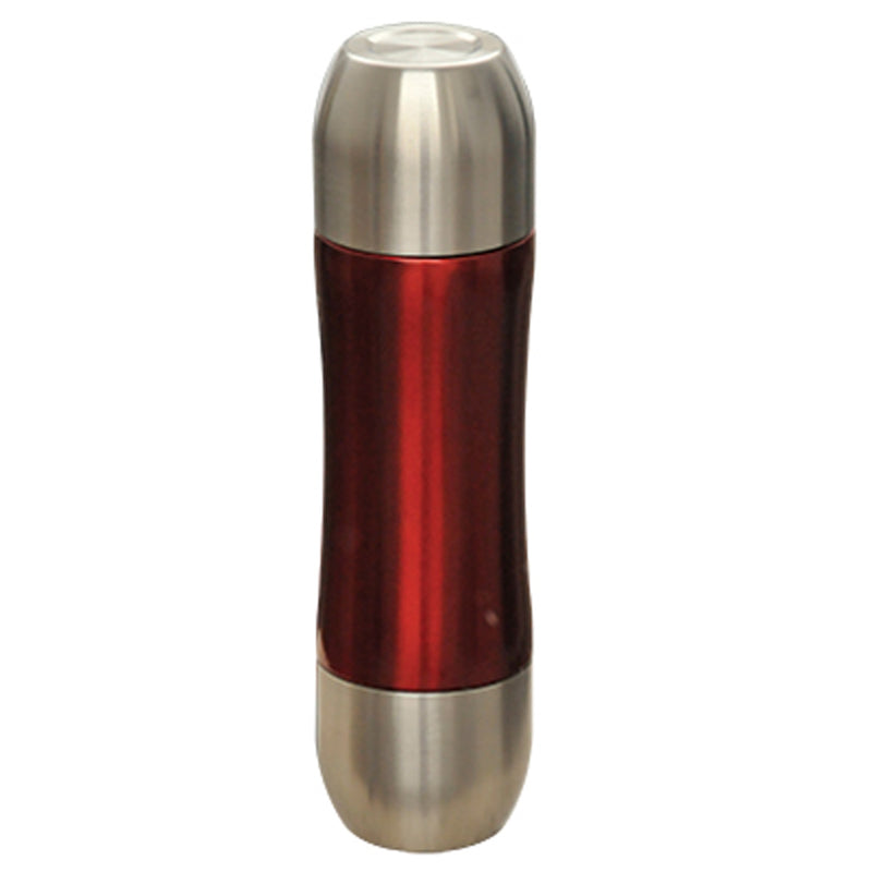 0.5L Vacuum Flask S/S Caps And Red Body