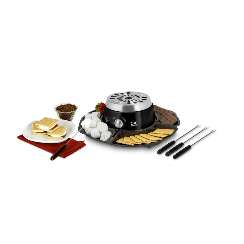 Kalorik Black 2-in-1 S'mores Maker and Chocolate Melter