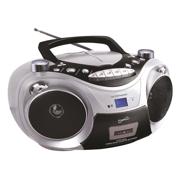 Supersonic Bluetooth Multifunction Boombox Gray
