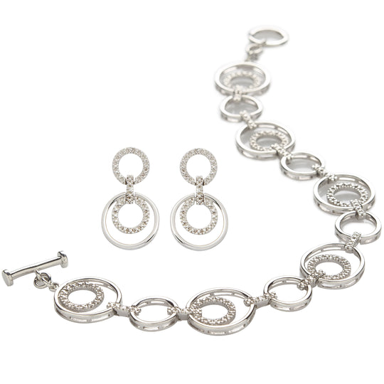 Diamond Bracelet & Earring Set