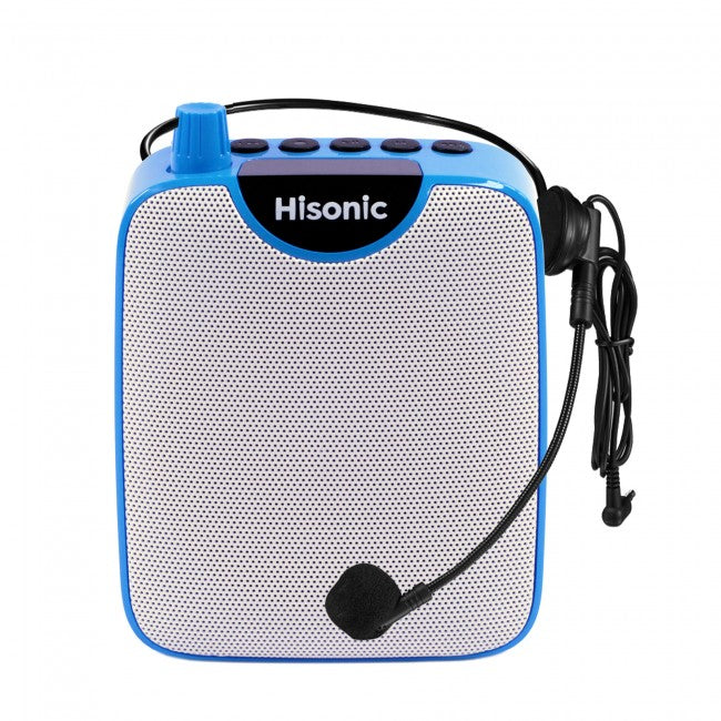 Hisonic 4-in-1 Mini Audiopod: Voice Amplifier with Plug-in Headset Mic+Speaker+Dig Voice Recorder+FM Radio