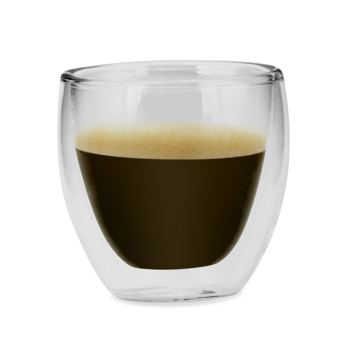 Kalorik Set of 4 Double wall Glass espresso or shot glasses 2.5 Oz.