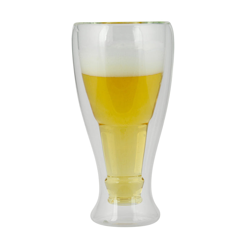 "Kalorik Set of 2 Double wall ""Freeze Cup"" Beer Glasses"