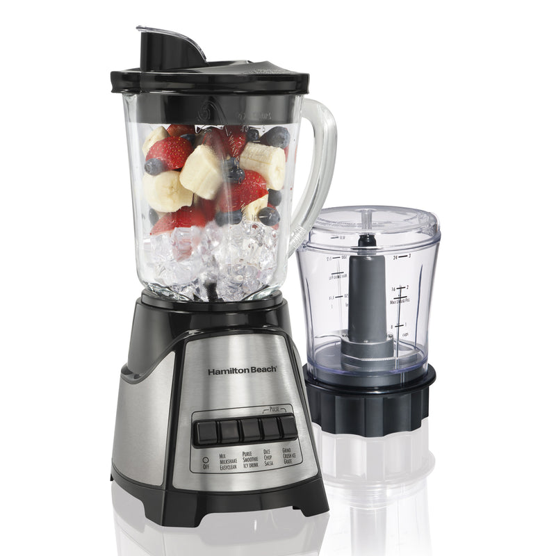 Hamilton Beach 2-in-1 Blender and Chopper Black-SS