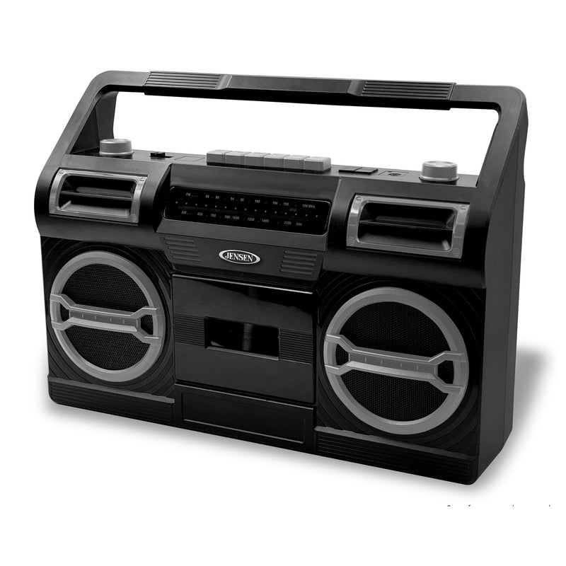 Portable AM/FM Radio with Cassette Player/Recorder and Built In Speaker