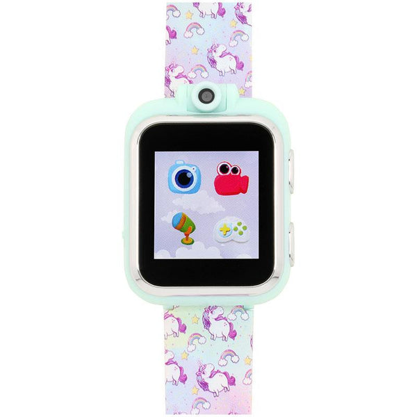 iTouch Wearables Kids PlayZoom Smart Watch with Unicorn Print Strap