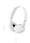 Sony ZX110AP - Headphones with mic - full size - wired - 3.5 mm jack - white