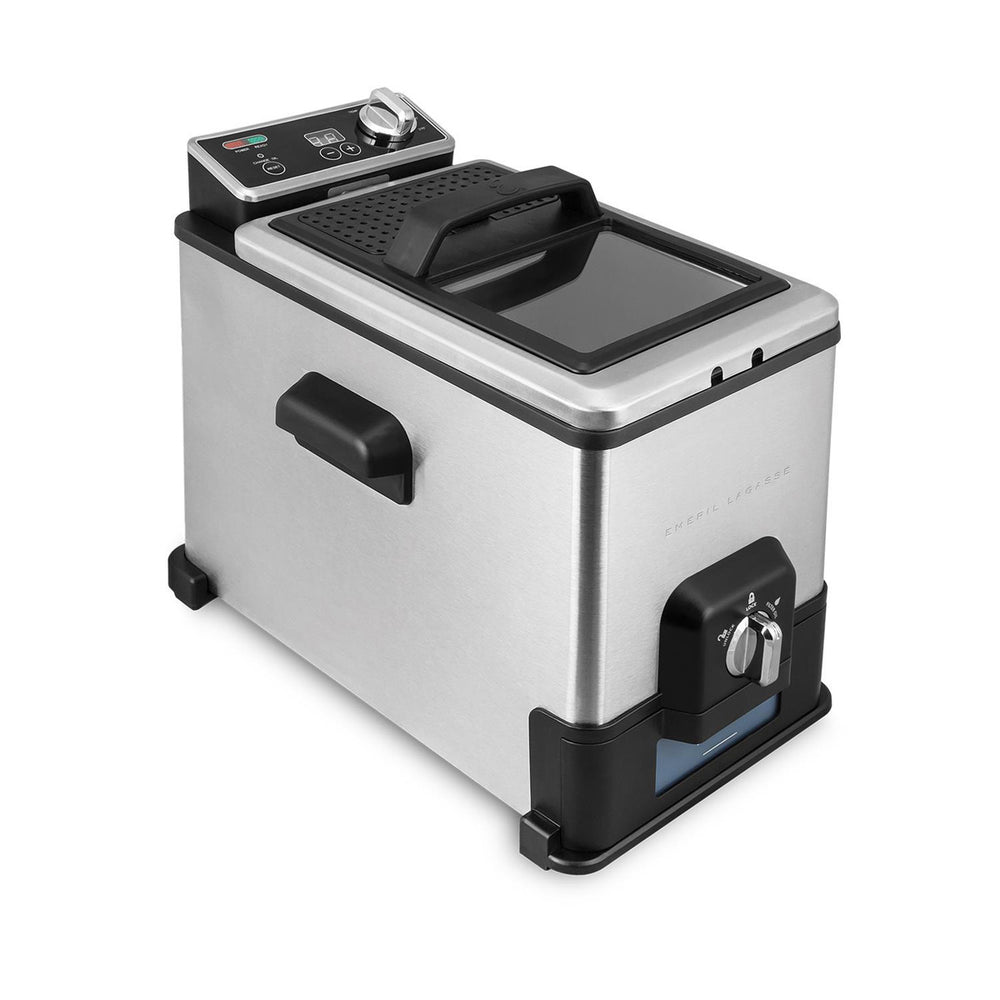 Kalorik Emeril Stainless steel 17-cup Digital Deep Fryer - 3-basket system.