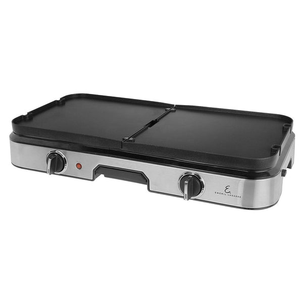 Kalorik Emeril Stainless Steel 3-in-1 Grill and Griddle