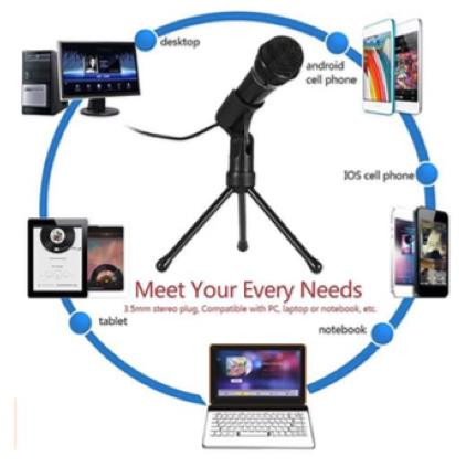 3.5mm Condenser Microphone with Tripod Stand