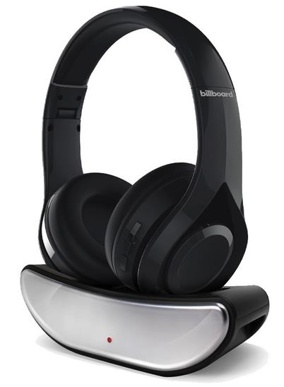 Bluetooth Headphones with Wireless Charging Stand
