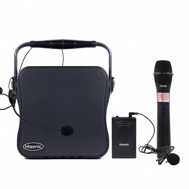 Hisonic VHF Wireless PA System with MP3 Player, FM Radio, Two Channel System with True 90 Watts