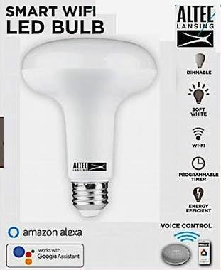 Altec Lansing 75 Watt Equivalent Wide-Cone Smart Wi-Fi Light Bulb
