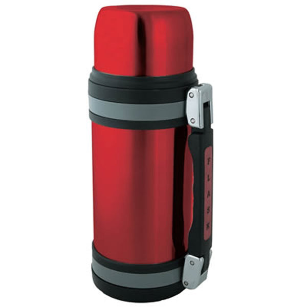 1.2L Vacuum S/S Bottle W/ Handle Red