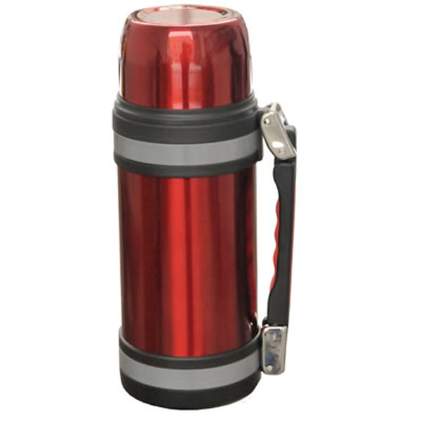 1.5L Vacuum S/S Bottle W/ Handle Red