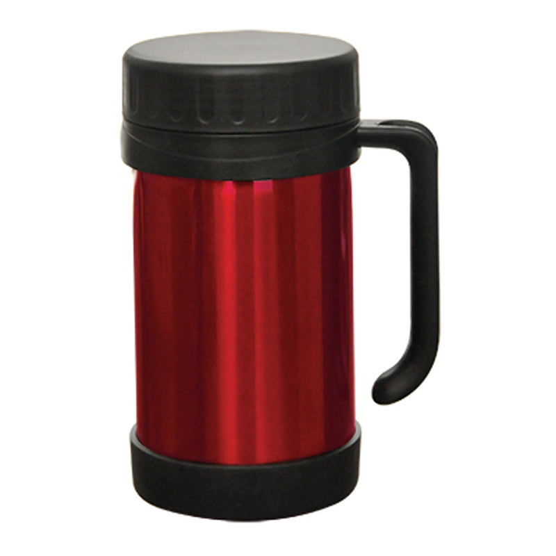 0.5 L Vaccum Food Thermos With Handle S/S Red