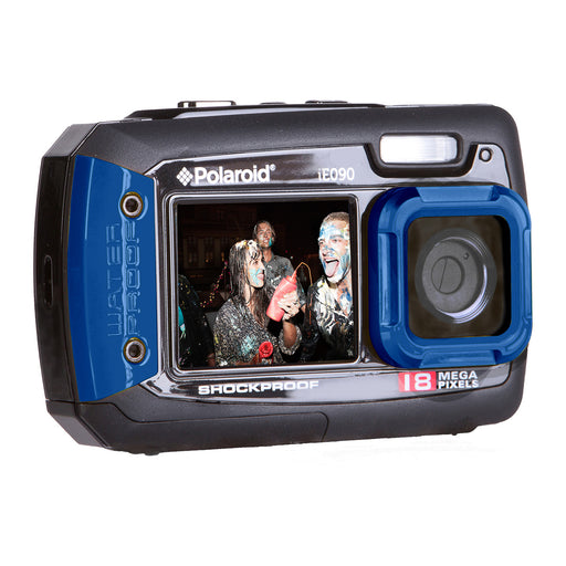 "Polaroid 18.1 MP Dual 2.7""/1.8"" Screen Waterproof DigiCam, 4x Zoom-Blue"