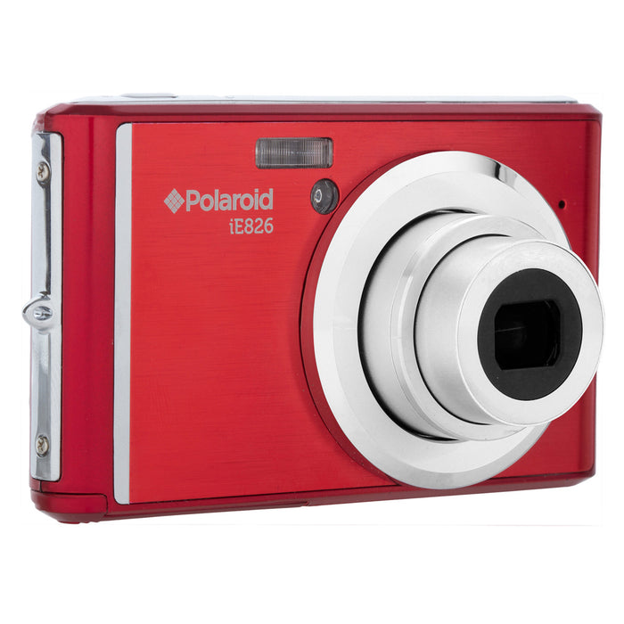 "Polaroid 18.1MP, Full 1080pHD DigiCam, 8xOptical, 2.4"" Screen, Rech-Red"