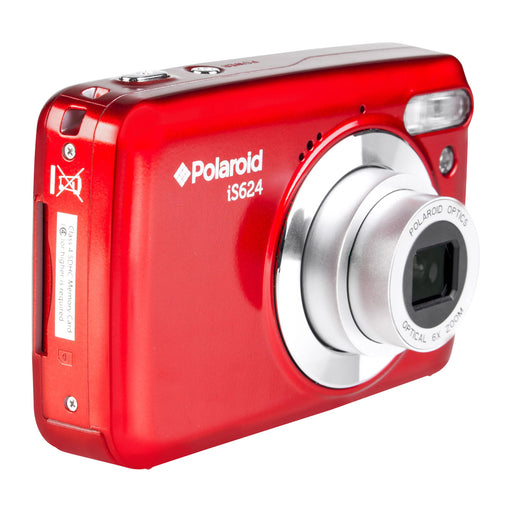 "Polaroid 16.1MP, Full 1080p HD DigiCam, 6x Optical, 2.4"" Screen-Red"