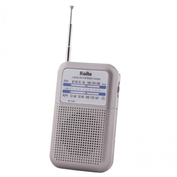 AM/FM Pocket Size Transistor Radio with Speaker and Antenna