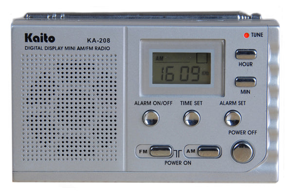 Pocket AM/FM Radio with Digital Clock/Alarm & LCD
