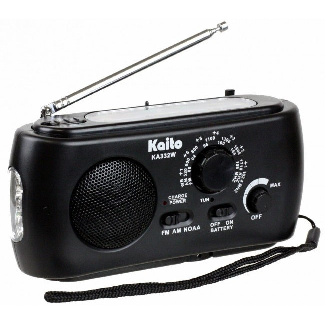 Kaito Weather Radio with AM/FM Flashlight Crank Solar