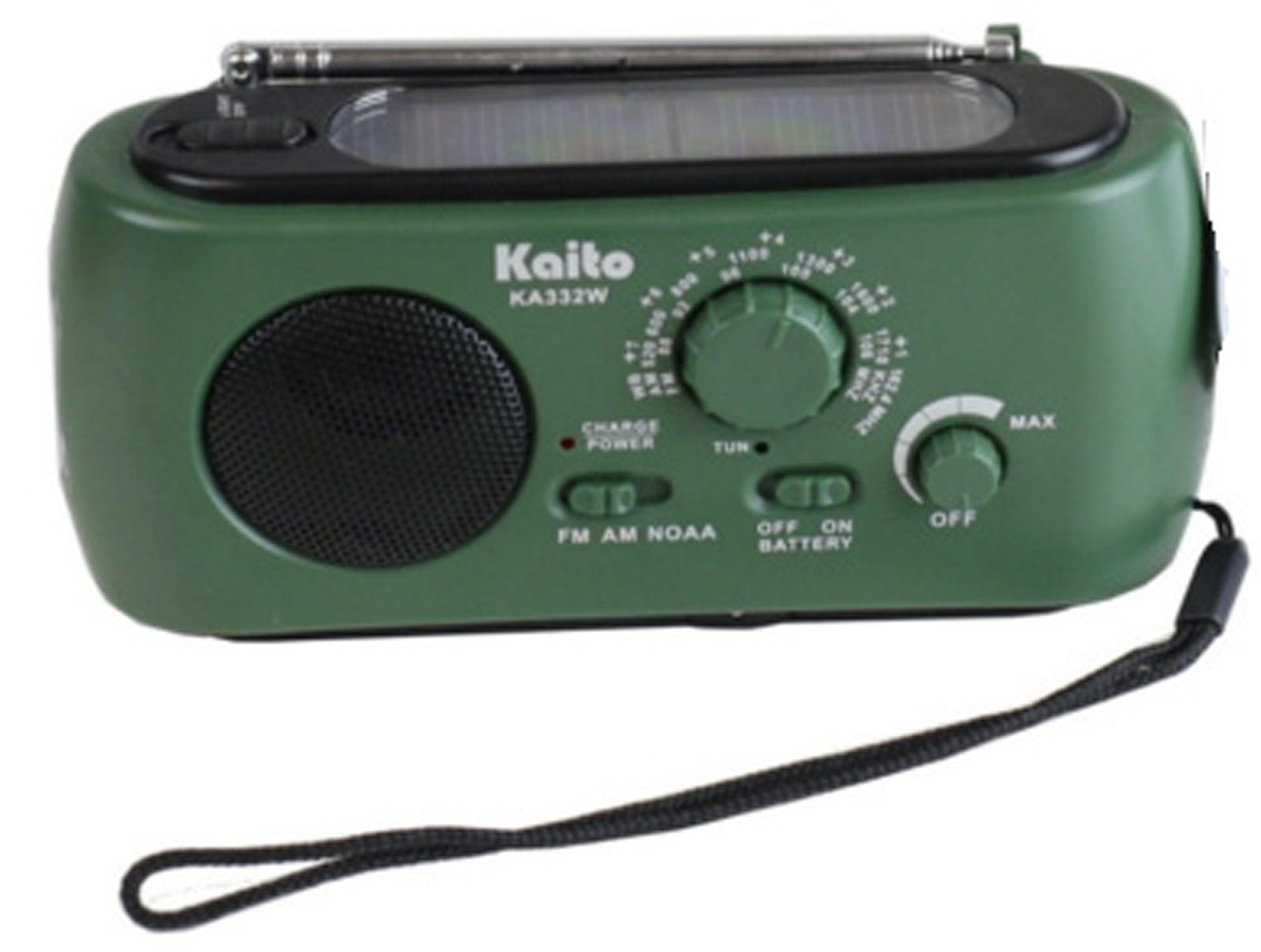 Kaito KA332W Weather Radio with AM/FM Flashlight Solar Crank