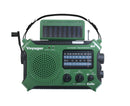 Crank & Solar AM/FM/SW/Weather Alert/Flashlight/Cell Phone USB
