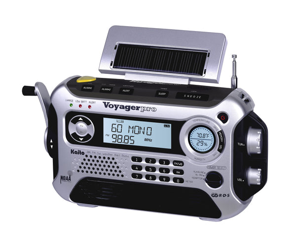 Voyager Pro Digital Solar & Crank Power Rechargeable Radio