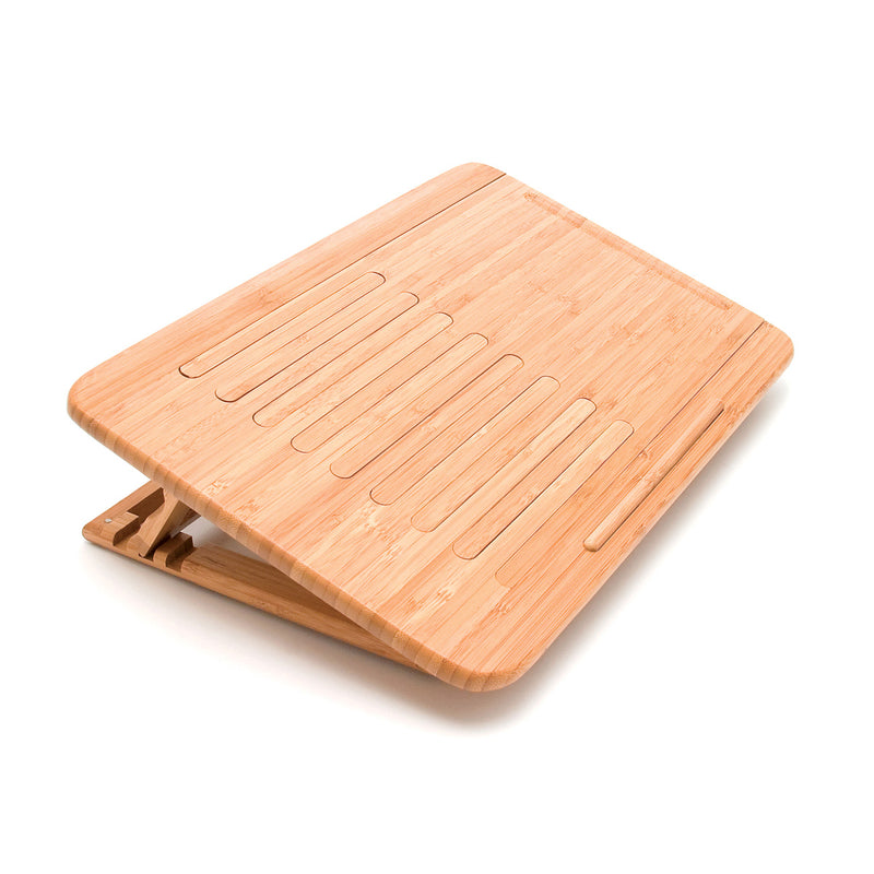 Bamboo Expandable/ Adjustable Laptop Computer Tray Slatted